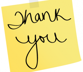 So many ways to say thank you.